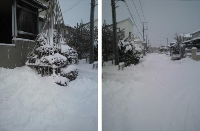 上越市:雪景色